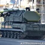 самоходная огневая установка 9А317 комплекса ПВО Бук-М2 на параде 9 мая 2014 года в Москве - 1