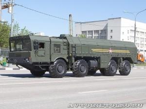 пусковая установка 9П78-1 ракетного комплекса Искандер-М на параде 9 мая 2014 года в Москве - 4
