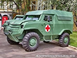 Бронеавтомобиль Торос санитарный на выставке Промышленный дизайн оборонной продукции - 2