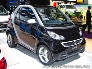 Легковой автомобиль Smart Fortwo Passion 62 KWt черный салон на Московском Автосалоне ММАС 2012 - 1