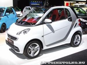 Легковой автомобиль Smart Fortwo Passion 62 KWt на Московском Автосалоне ММАС 2012 - 2