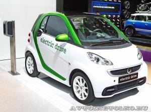 Легковой электромобиль Smart Fortwo Coupe Electric Drive на Московском Автосалоне ММАС 2012 - 2
