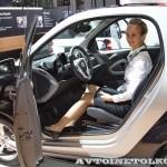 Легковой автомобиль Smart Fortwo Passion 62 KWt черный салон на Московском Автосалоне ММАС 2012 - 3