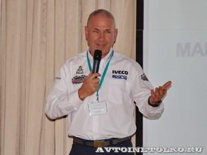 Участник ралли Париж-Дакар IVECO Trakker 4x4 на тест-драйве нового IVECO Trakker полигон НАМИ 2014 - 12