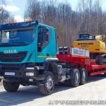 Седельный тягач IVECO-АМТ 633910 на тест-драйве нового IVECO Trakker полигон НАМИ 2014 - 1