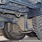 Автобетоносмеситель Tigarbo на шасси IVECO Trakker 8x4 на тест-драйве нового IVECO Trakker полигон НАМИ 2014 - 2