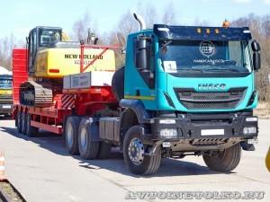 Седельный тягач IVECO-АМТ 633910 на тест-драйве нового IVECO Trakker полигон НАМИ 2014 - 11