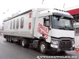 Магистральный седельный тягач Renault T460 с полуприцепом-шторником Schmitz Cargobullна презентации R-EVOLUTION 2014 - 2