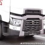 Магистральный седельный тягач Renault T520 с изотермическим полуприцепом Schmitz Cargobull на презентации R-EVOLUTION 2014 - 3