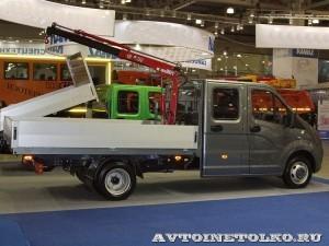 ГАЗель NEXT двойная кабина борт с КМУ Maxilift ML 150.3 Рускомтранс на выставке СТТ 2014 - 1
