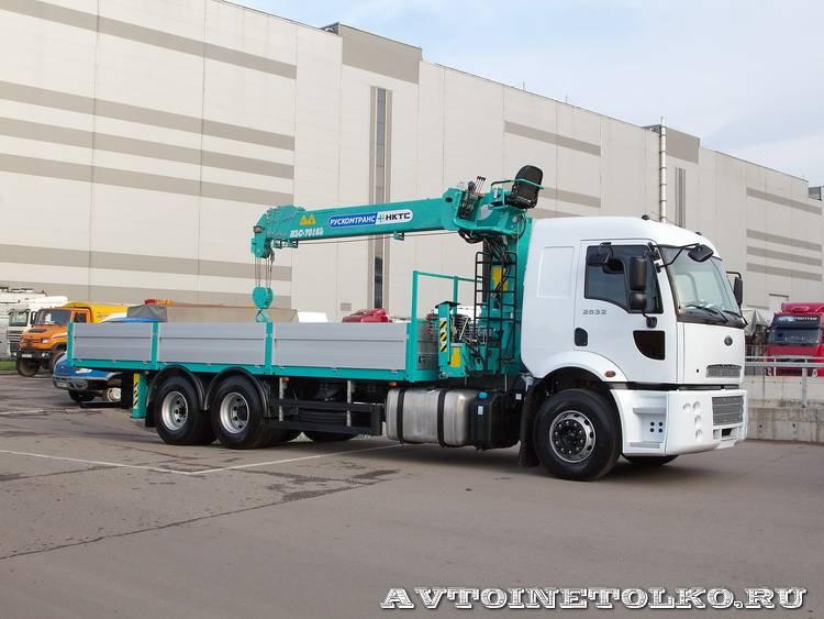 Ford Cargo 2532 6х2 с КМУ HKTC HLC-7016 Рускомтранс на выставке СТТ 2014 - 2