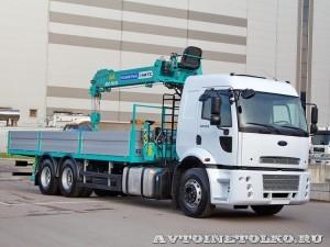 Ford Cargo 2532 6х2 с КМУ HKTC HLC-7016 Рускомтранс на выставке СТТ 2014 - 1