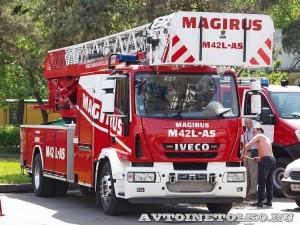 Пожарная автолестница Magirus ML42L-AS на шасси IVECO Eurocargo на салоне Комплексная Безопасность 2014 - 1