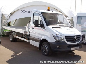 Mercedes-Benz Sprinter эвакуатор Isoli АМЗ 1 тест-драйв в Крылатском май 2014 - 1