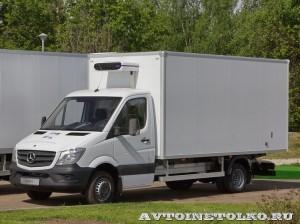 Mercedes-Benz Sprinter фургон изотерм ЦТТМ с ХУ Carrier тест-драйв в Крылатском май 2014 - 1