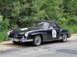 Mercedes-Benz 190SL W-121 1962 на ралли Bosch Moskau Klassik 2014 - 2