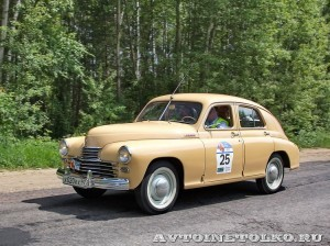 ГАЗ М20 Победа 1950 на ралли Bosch Moskau Klassik 2014 - 2