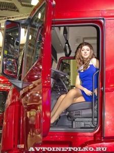 Магистральный тягач Hyundai Xcient P410 4x2 на выставке COMTRANS-13 - 12