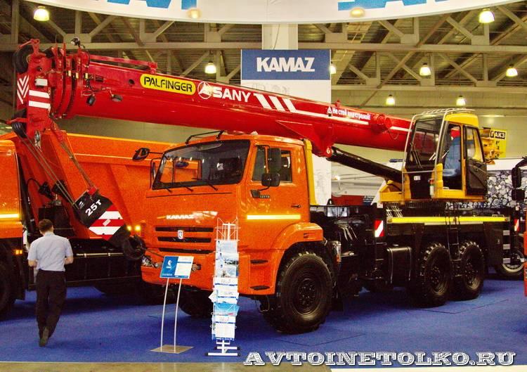 автокран Sany SPC-250 на шасси КамАЗ 43118 на выставке СТТ 2014 - 1