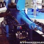 седельный тягач Урал 44202-3511-82М с краном-манипулятором Инман ИМ-320 УралСпецТранс на выставке СТТ-2014 - 4