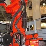 бортовой грузовик Урал 4320-80М с краном-манипулятором Инман ИТ-180 УралСпецТранс на выставке СТТ-2014 - 4