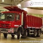 Самосвал Mercedes-Benz Actros 4141K с кузовом ИнтерПайпВэн на выставке СТТ 2014 - 2