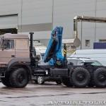 седельный тягач Урал 44202-3511-82М с краном-манипулятором Инман ИМ-320 УралСпецТранс на выставке СТТ-2014 - 5