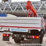 бортовой грузовик Урал 4320-80М с краном-манипулятором Инман ИТ-180 УралСпецТранс на выставке СТТ-2014 - 7