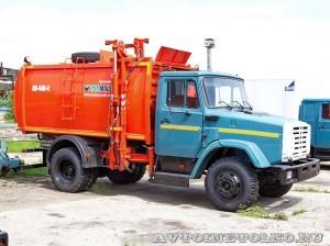 Мусоровоз КО 440-4 Коммаш Арзамас завод ЗиЛ май 2013 - 1
