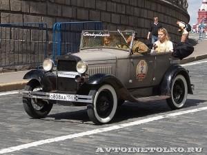1934 ГАЗ-А Сергей Симонов и Ирина Сергеева, Москва на ГУМ Авторалли Gorkyclassic-2014 - 3