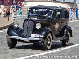 1938 ГАЗ-М1 Вячеслав Лен и Леонид Володарский, Москва на ГУМ Авторалли Gorkyclassic-2014 - 1