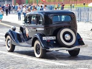 1938 ГАЗ-М1 Вячеслав Лен и Леонид Володарский, Москва на ГУМ Авторалли Gorkyclassic-2014 - 2