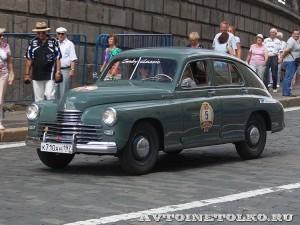 1954 ГАЗ-М20 Победа Леонид Голованов и Дарья Лаврова, Москва на ГУМ Авторалли Gorkyclassic-2014 - 1