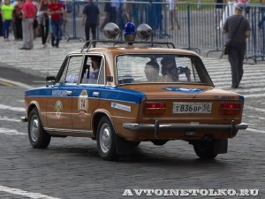 1978 ВАЗ-2103 ротор Сергей Суворов и Сергей Вавилов, Москва на ГУМ Авторалли Gorkyclassic-2014 - 2