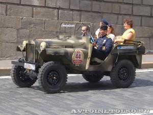 1941 ГАЗ-64 Максим Зубарев и Виктория Зубарева, Москва на ГУМ Авторалли Gorkyclassic-2014 - 3