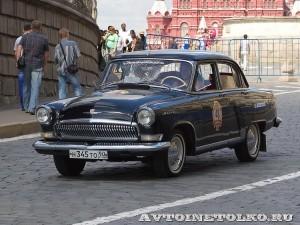 1964 ГАЗ-21 Волга Ольга Пивцаева и Николай Миронов, Москва на ГУМ Авторалли Gorkyclassic-2014 - 1