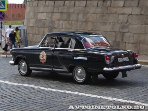 1964 ГАЗ-21 Волга Ольга Пивцаева и Николай Миронов, Москва на ГУМ Авторалли Gorkyclassic-2014 - 2