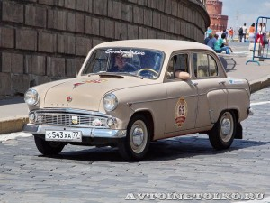 1963 Москвич-403 Александр Любицкий и Андрей Семенихин, Москва на ГУМ Авторалли Gorkyclassic-2014 - 1