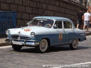 1958 ГАЗ-21В Волга Иван Падерин и Наталия Падерина, Москва на ГУМ Авторалли Gorkyclassic-2014 - 1