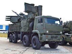 Зенитный ракетно-пушечный комплекс Панцирь-С1 на шасси КамАЗ-6560 на выставке Оборонэкспо форума ТВМ 2014 - 60571