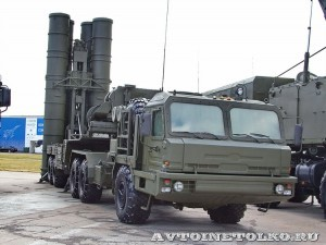 пусковая установка 5П85ТЕ2 комплекса С-400 Триумф на выставке Оборонэкспо форума ТВМ 2014 - 6046