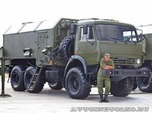 Маловысотная трехкоординатная РЛС Каста-2-2 командный пункт на выставке Оборонэкспо форума ТВМ 2014 - 6087