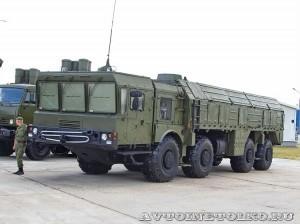 пусковая установка 9П78РК из состава оперативно-тактического ракетного комплекса Искандер-М на выставке Оборонэкспо форума ТВМ 2014 - 6098