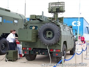 модуль управления ПВО на шасси бронемашины Тигр ОАО Концерн радиостроения Вега на выставке Оборонэкспо форума ТВМ 2014 - 7078