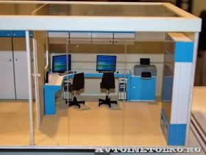 Модель комплекса магниторезонансной томографии (МРТ) в кузове-контейнере НПО Мобильные Клиники на выставке Здравоохранение 2014img_6758