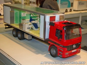 Модель стоматологического комплекса на шасси грузового автомобиля НПО Мобильные Клиники на выставке Здравоохранение 2014 img_6764
