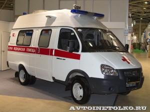 Автомобиль скорой помощи класс В на базе ГАЗель Бизнес ПКФ Луидор на выставке Здравоохранение 2014 img_7101