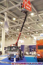 Подъемник Чайка СервисТ-318 на шасси JAC N56 на выставке COMTRANS 2017