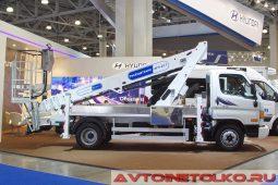 Hyundai HD78 с подъемником АГП-22Т Рускомтранс на выставке COMTRANS 2017