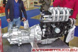 Двигатель с КПП УАЗ ПРОФИ на выставке COMTRANS 2017